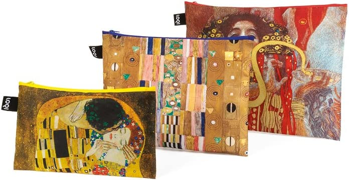 LOQI LOQI MUSEUM GUSTAV KLIMT Zip-Etuis Monedero, 39 cm, Varios colores (Klimt)