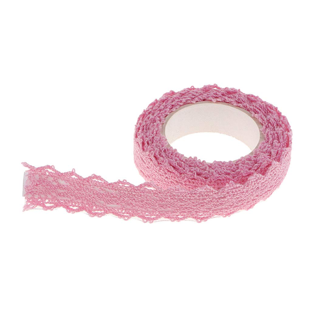 rosa P Prettyia 2 Cantieri Bellissimo Tessuto Nastro di Pizzo Stile Coreano Nastro Washi Abbellimenti in Pizzo