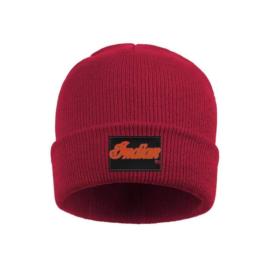 Wool Beanie Cap Knit Caps Fine Knit Beanie HatsWinter Outdoor Sport Ski sdfjkoinj Mens Indian-Motorcycles-logp