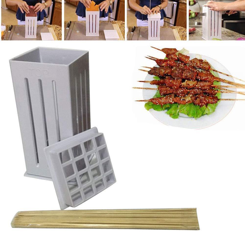 16 Loch BBQ Fleischspie/ß Maker Box Tool W//Edelstahl Kebab EBILUN Kebab Maker