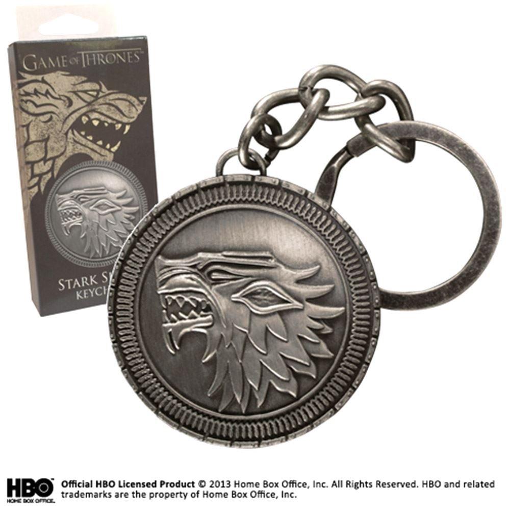 Juego de Tronos Llavero metálico Stark Shield: Amazon.es ...