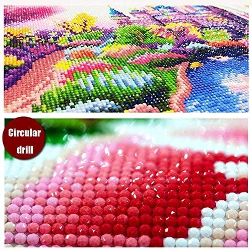 6 Pack 5D DIY Full Drill Diamond Painting Kits, JLHATLSQ Cartoon Round Crystal Rhinestone Embroidery Cross Stitch Arts Craft for Home Wall Decor Gift(Diamond Painting 9.8x13.7inch)