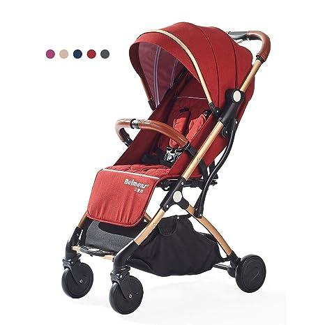 Cochecito de bebé, silla de paseo infantil plegable con ...