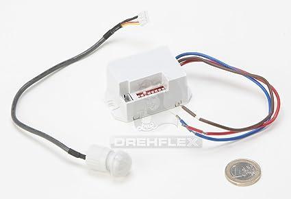 Drehflex® - Mini detector de movimiento PIR para instalar, 240 V, apto para