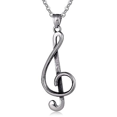Epinki Acero Inoxidable Collar de Hombre Nota Musical ...