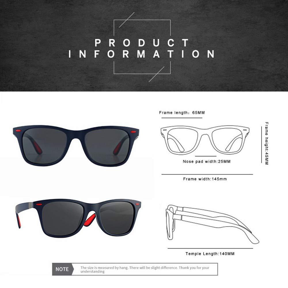 ZEZKT gafas de sol polarizadas para hombres gafas de sol cuadradas cl/ásicas moda casual sunglasses con caja adulto gafas para viajes al aire libre