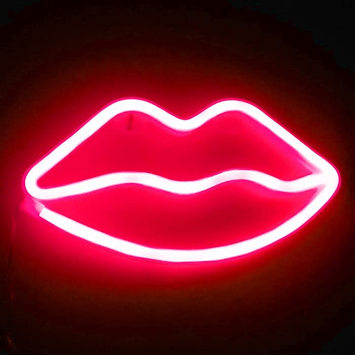 The Best Red Led Lip Wall Decor