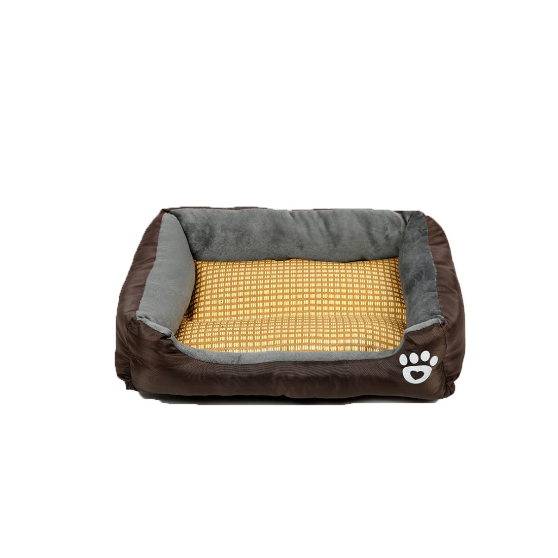 Brown L Brown L Famyfirst Pet Summer Sleeping Mat Bed Pet Nest for Small Medium Large Dogs Pet Dog Nest Bed for Summer Cool Pet Sofa Bed-mat Brown L