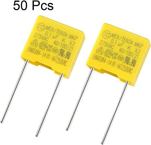1uF 2.2uF 0.68uF 15 Pcs uxcell Polypropylene Safety Capacitors Assortment Kit DIP 275VAC X2 MKP 3 Value