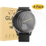 Ansblue 4 Pack Compatible for Garmin Vivomove HR Tempered Glass Screen Protector, Anti Scratch, Bubble Free, 9H Hardness Scratch Resistant Screen Protector Film