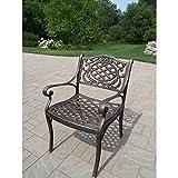 Oakland Living Mississippi Cast Aluminum Arm Chair, Antique Bronze