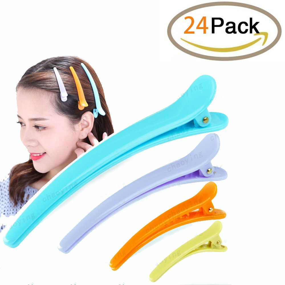 Vinmax Multicolor Plastic Alligator Hair Clips DIY Accessories&Jelly Confectionery Color Medium Sized Haircuts for Thick Hair-Salon Styling Sectioning Hair Grip-Crocodile Accessories Hairpin (24Pc)