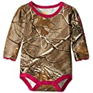 Carhartt Baby Girls' Camo Long Sleeve Bodyshirt, Dark Brown, 9 Months