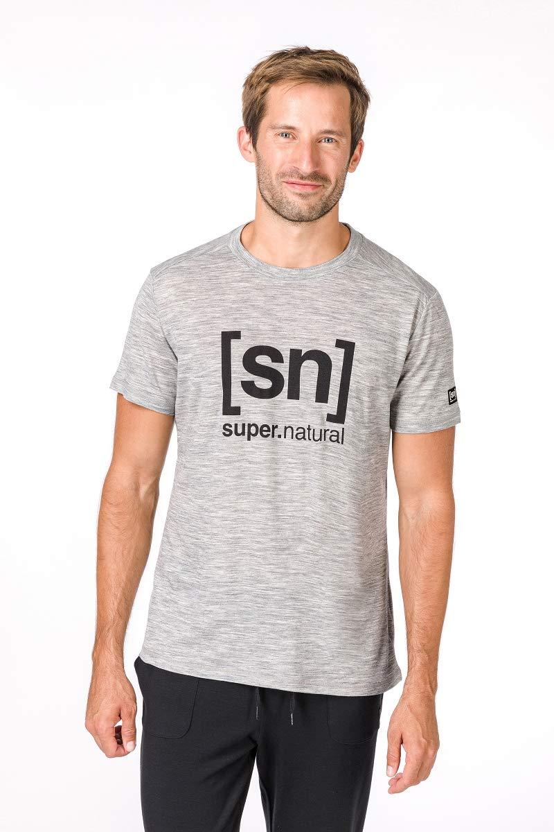 Super Natural Uomo M Essential I.D Tee Merino Maglietta