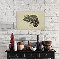 iCanvasART 3 Piece Born to Hide Landscape Canvas Print by Terry Fan 60 by 40//1.5 Deep