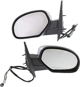 Kool Vue Mirror Set For 2007-2013 Chevrolet Silverado 1500 Chrome Left /& Right