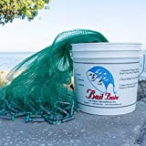 "Bait Buster Professional Grade Minnow Cast Net 1/4"" Sq. Mesh (Green, 12 FT. RADIUS)"