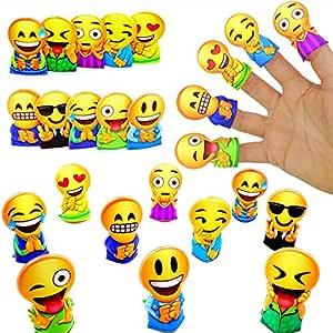 German Trendseller® - 6 x Emoji - Marionetas de Dedos ...