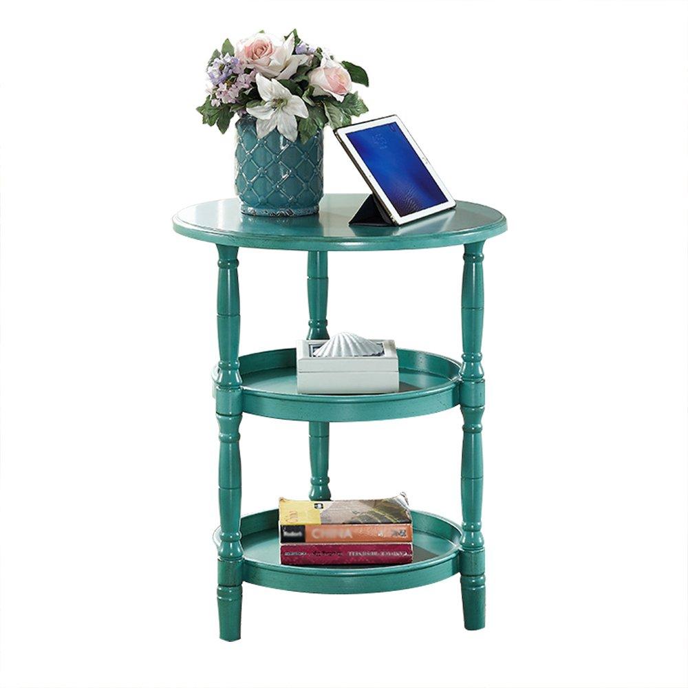 ナイトテーブル ベッドサイドテーブルソリッドウッドラウンドテーブルコーヒーテーブルソファサイドテーブルラウンドコーヒーテーブルラウンドテーブルサイドキャビネットサイドテーブルモダンなベッドルームテーブル家具(サイズ:51 * 62.5cm) (色 : B) B07FBKM14PB