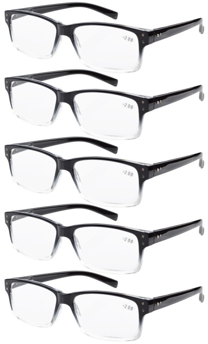 4ad958e3bdc Amazon.com  Eyekepper 5-Pack Spring Hinges Vintage Reading Glasses ...