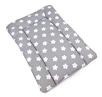e2b991f60012 100% Cotton Baby Changing MAT Nursery MAT for Changing Unit (Big White  Stars on Grey): Amazon.co.uk: Baby