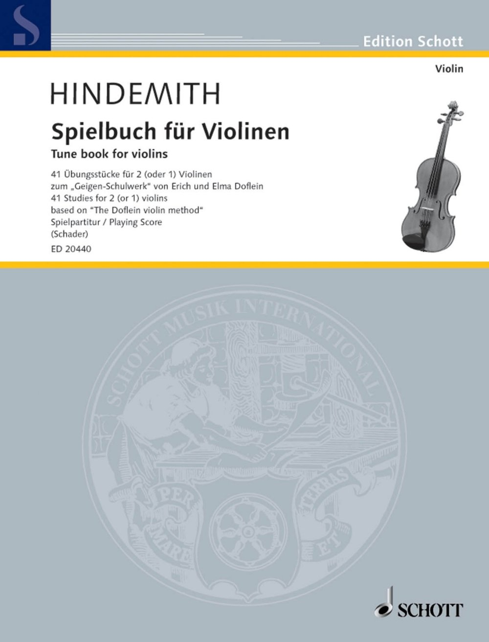 Download Schott Tune Book for Violins (41 Studies for 2 (or 1) Violins Based on The Doflein Violin Method) Schott Series pdf