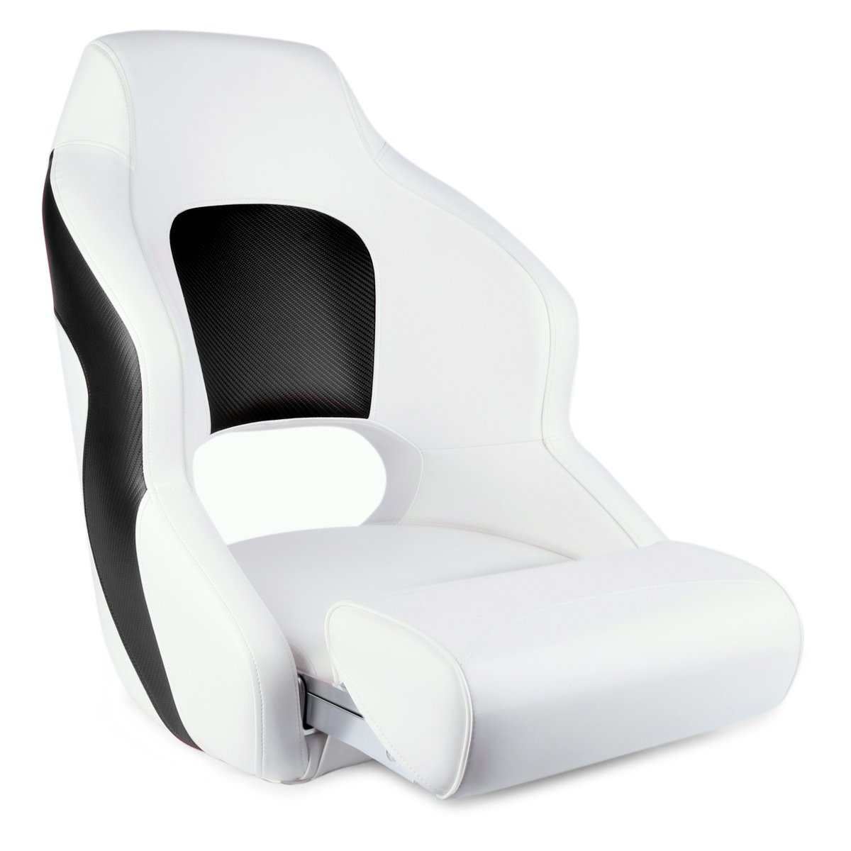 Leader Accessories Two Tone Captain's Bucket Seat Boat Seat (White/Black)