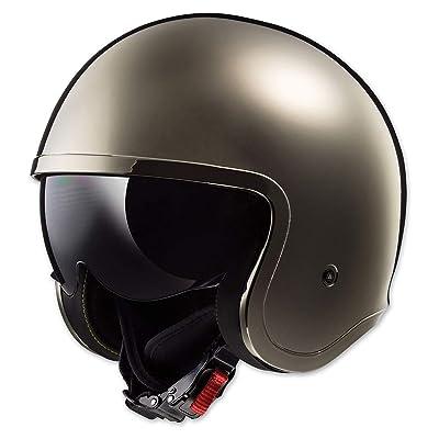 LS2 Helmets Open Face Spitfire Helmet (Black Chrome - X-Small): Automotive