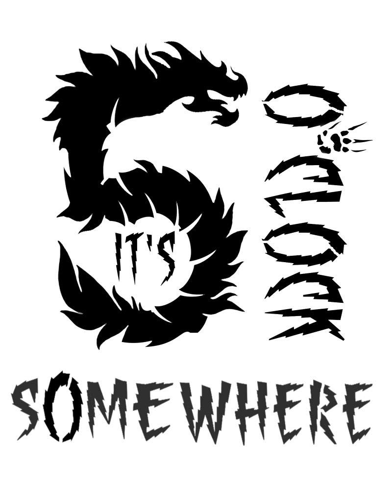Dragon It's 5 o'clock Somewhere ステンシル ゴシック ドラゴン ステンシル 8