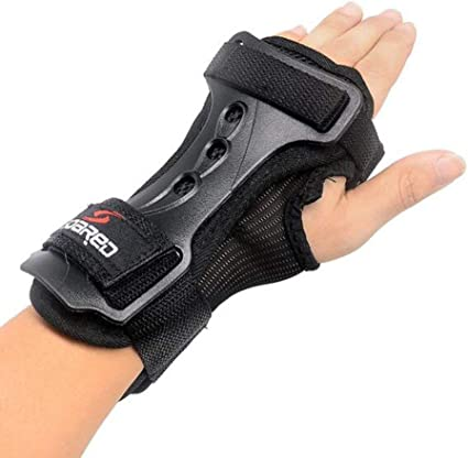 GES Hand Pads Wrist Guards Protective Gear Skating Gloves Extended Wrist Palms Protection Roller Skating Hard Gauntlets for Snowboard Skiing Skateboard Roller Skating Scooter