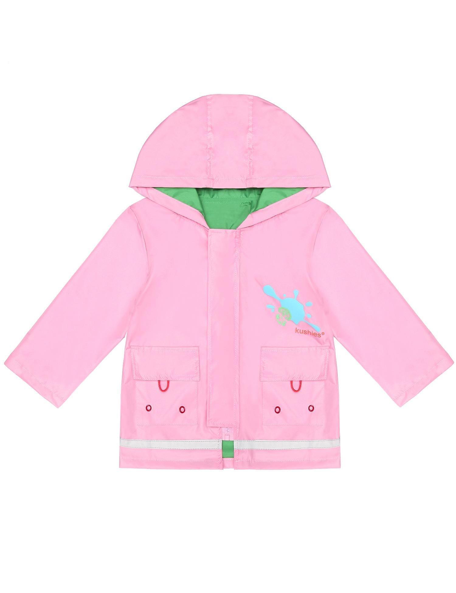 Bifast Cute Kids Girls Raincoat Hooded Long Sleeve Waterproof Raincoat Jacket Outwear Tops