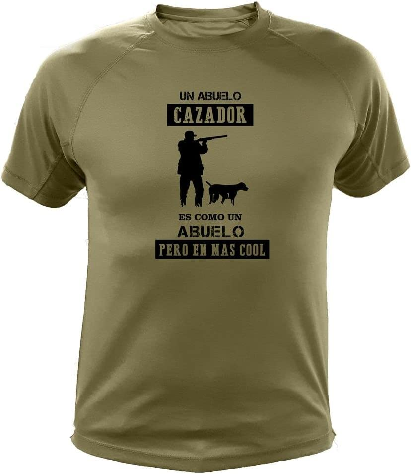 AtooDog Camiseta de Caza, Abuelo Cazador - Ideas Regalos