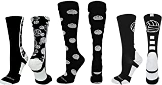 product image for MadSportsStuff Volleyball Logo Crew Socks (Multiple Colors)