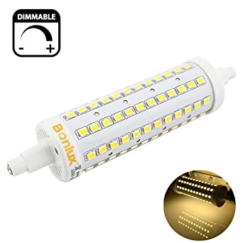 Bonlux 10W Regulable R7s 78mm 118mm Lineal LED Bombilla Luz Fría 6000K 200 Grados Super Brillante