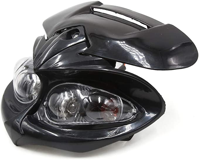 uxcell Motorcycle Scooter Headlight Warm White Headlamp