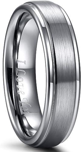 Amazon Com Mens Wedding Ring Band Tungsten Carbide Ring For Men