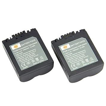 DMC-FZ18EGK CGR-S006A1B DMC-FZ18GK DMC-FZ18K DMC-FZ18S DMC-FZ28EFS DMC-FZ18 DMC-FZ18EGS D CGA-S006 DSTE/® 2pcs S006E Rechargeable Li-ion Battery Charger DC62U for Panasonic CGR-S006 DMC-FZ18EG DMW-BMA7 and Panasonic DMC-FZ28EFK DMC-FZ18EB