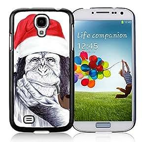 New Design Samsung S4 Protective Skin Cover Christmas Chimp Black Samsung Galaxy S4 i9500 Case 1