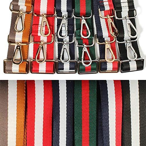 Bolso Correa Decoración para Colorido mezcla Bolso de Correa moda de Correa Color la para Reemplazar mensajero hombro ajustable Bolsa el de hombro de wAaAIqBr