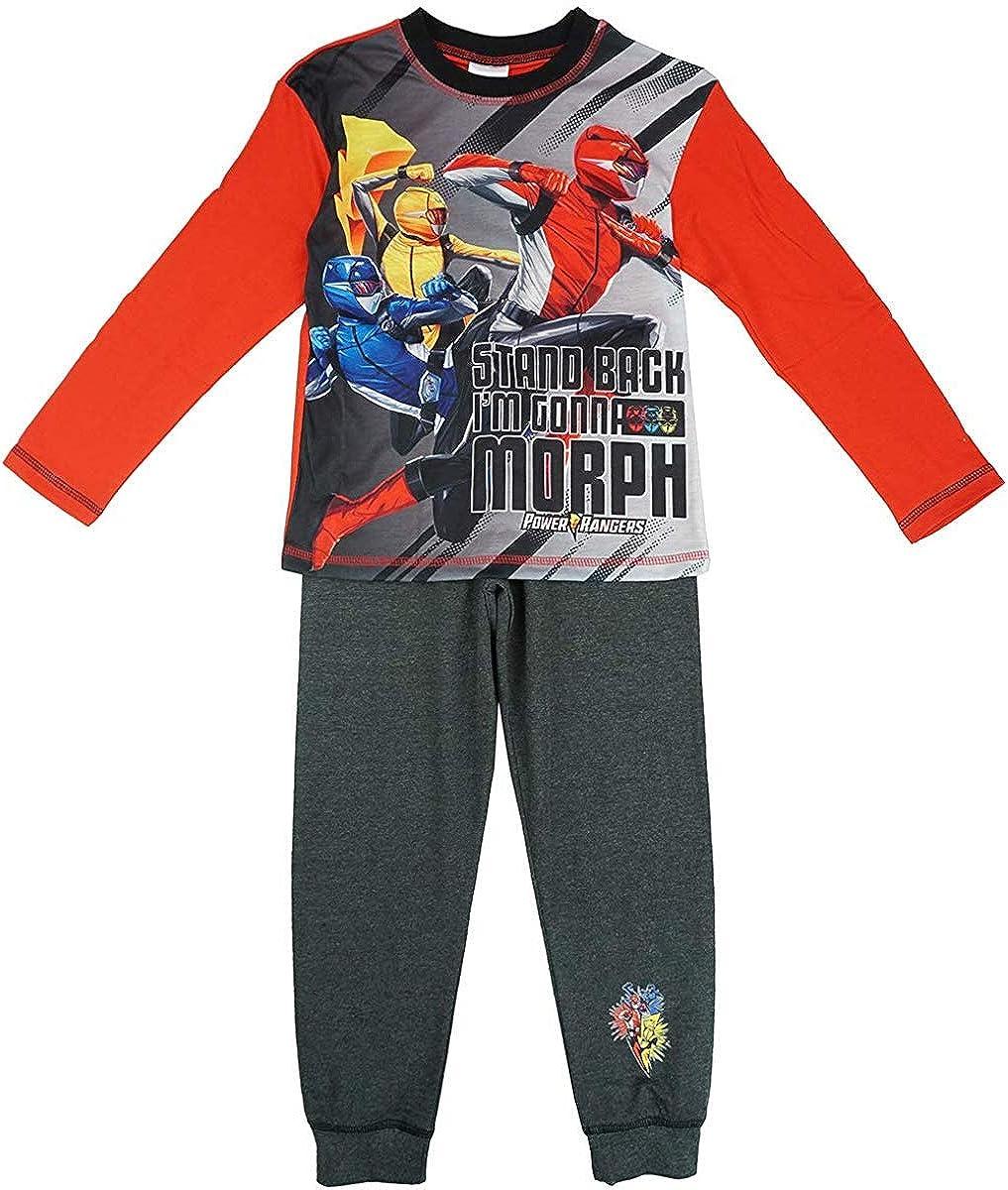Taglie da 4 a 10 Anni Pigiama Ufficiale Power Rangers Stand Back Im Gonna Morph