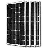 Renogy 4 Piece 100W Monocrystalline Photovoltaic PV Solar Panel Module 12V Battery Charging