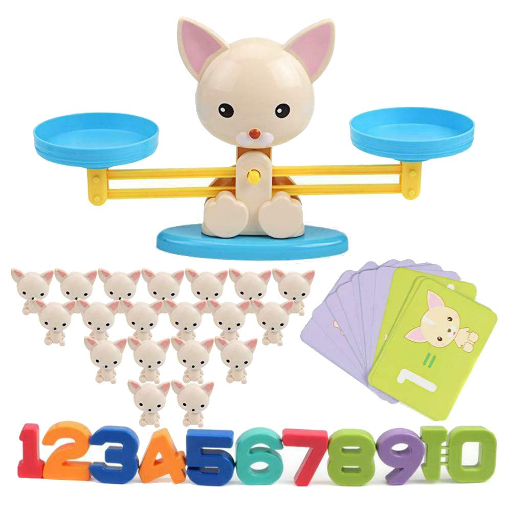 Adealink Monkey/Pig/Dog Toy Balance Cool Math Table Game Fun Educational Gift for Girls Boys by Adealink