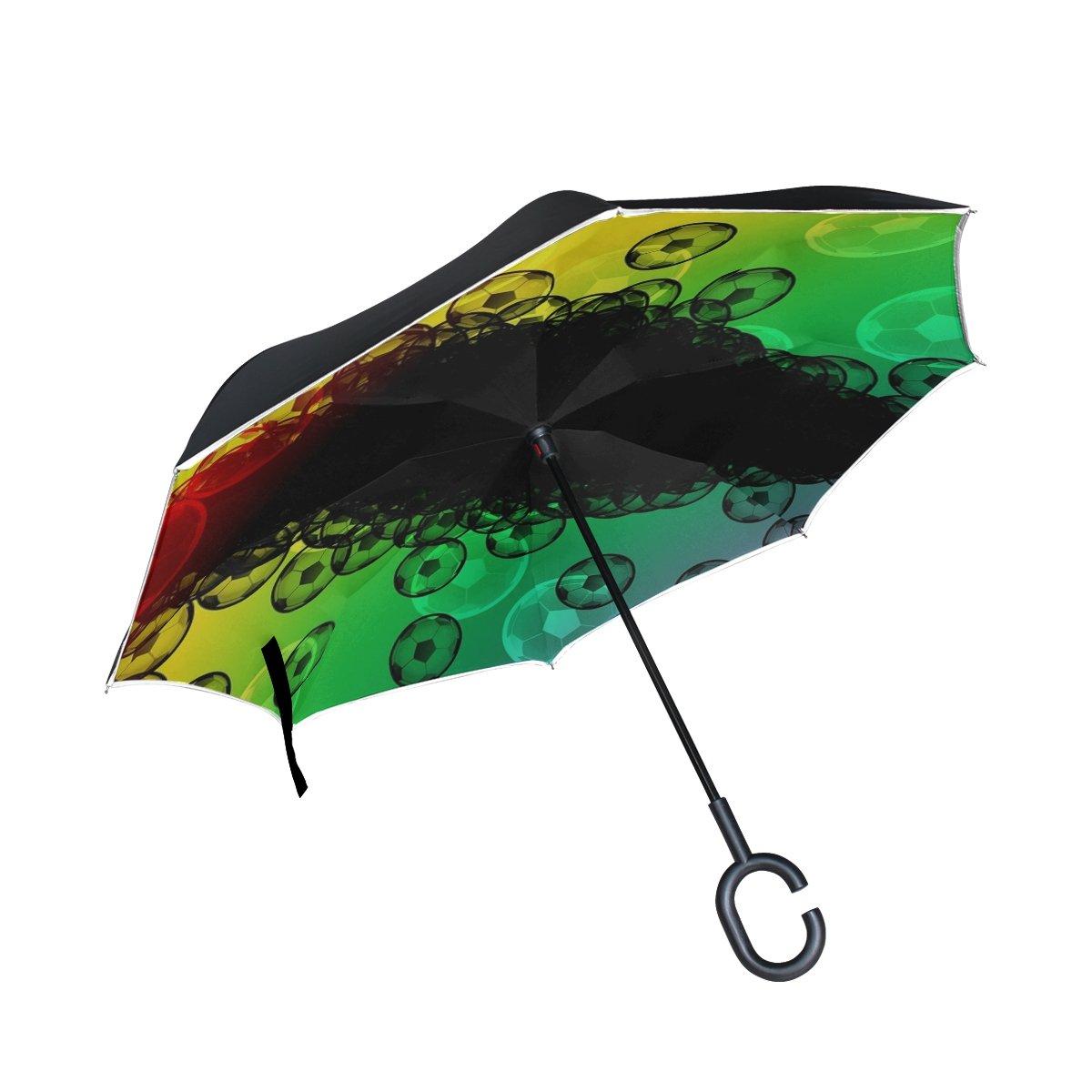 MAPOLO Red Blue White Nautical Anchor Print Windproof Rain Travel Canopy 3 Folds Auto Open Close Button Umbrella