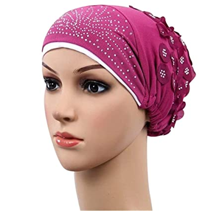 Summer Women Floral Lace Beanie Slouchy Turban Hat Chemo Cap Hijab Cap Headwrap
