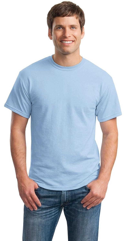Gildan Mens DryBlend 50 Cotton/50 Poly T-Shirt, 3XL, Light Blue