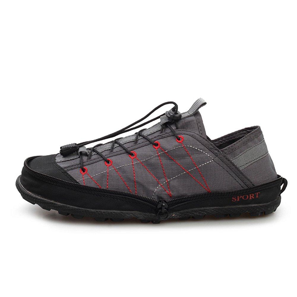 Men's Lesisure Ultra Soft Foldable Sneakers Breathable Leisure Compression Shoes Travel Shoes (9M, Grey)