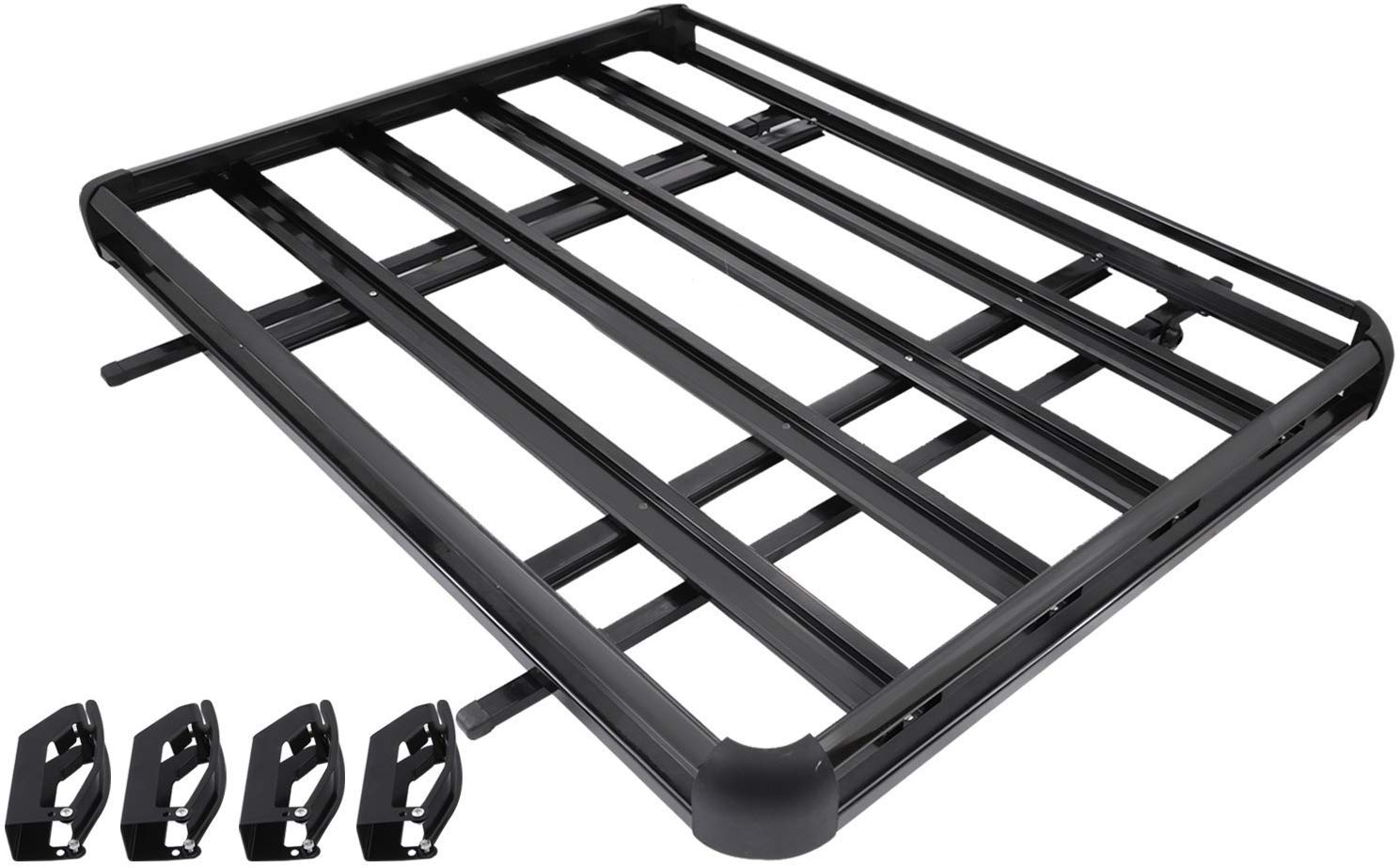 Black Tuntrol Universal Roof Basket Roof Rack Basket/ Aluminum 64x40 Inch Rooftop Cargo Basket for Car Top Luggage Holder Carrier Basket SUV Storage
