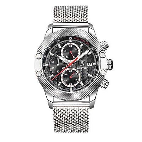 Amazon.com: XBKPLO Mens Quartz Watch,Sport Chronograph Waterproof Luxury Six Pin Fashion Analog Wrist Watches Mesh Strap: Pet Supplies