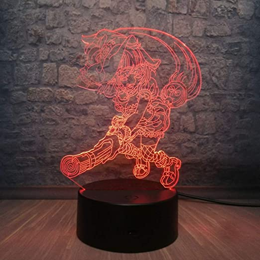 Lámpara de ilusión 3D Wangzj/Lámpara de iluminación para ...