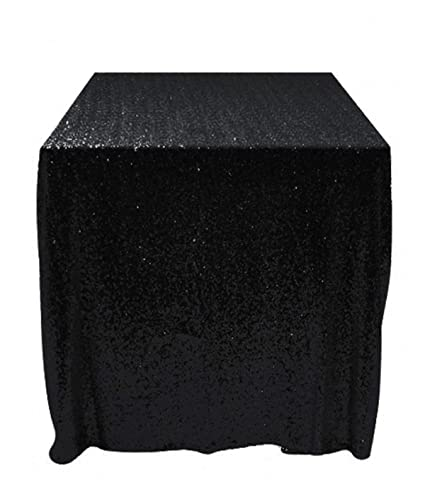 50x50 Square Black Sequin Tablecloth Select Your Color Size Can